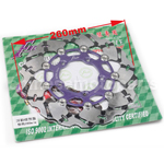 Purple Floating Brake Disc for YAMAHA GYGNUS X125 GTR BWS 125