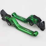 Green CNC Aluminum Adjustable Clutch and Brake Levers for YAMAHA FORCE FRC RSZ JOG Z125