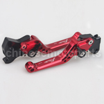 Red CNC Aluminum Adjustable Clutch and Brake Levers for YAMAHA FORCE FRC RSZ JOG Z125
