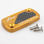 CNC Alloy Aluminium Brake Master Cylinder Reservoir Cap Cover Gold for HONDA DIO50 ZX50 GY6-125 Moped Scooters