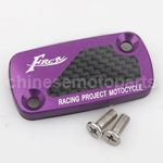 CNC Alloy Aluminium Brake Master Cylinder Reservoir Cap Cover Purple with Carbon Sticker for HONDA DIO50 ZX50 GY6-125