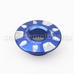 Blue CNC Aluminium Alloy Ignition Lock Cover for YAMAHA FORCE FRC RSZ JOG Z125