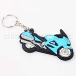 Soft Rubber Motorcycle Keychain For BMW Honda Suzuki Kawasaki Yamaha Chevrolet