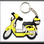 Biker Generic Scooter Motorcycle Keychain Yellow/Black/White New