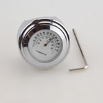 "7/8"" Motorcycle Handlebar White Thermometer For Harley Glide"