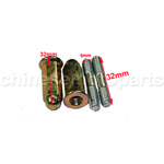 Exhaust Studs,Nuts For Chinese Scooters GY6 50,125,150 (139QMB 152QMI 157QMJ )