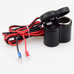 Motorcycle Weatherproof USB Cell phone GPS Cigarette Lighter Charger With Switch
