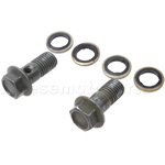 10mm Bolt Set of Disk Brake Assembly for 50cc-250cc ATV, Dirt Bike, Go Kart, Pocket Bike & Scooter