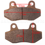 High Performace Brake Pad for 150cc-250cc Tricycle