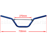 Blue Handlebars for 50cc-125cc Dirt Bike