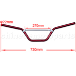 Red Handlebars for 50cc-125cc Dirt Bike
