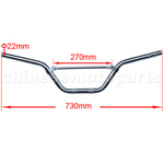 Silver White Handlebars for 50cc-125cc Dirt Bike