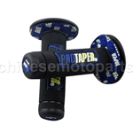 New Rubber Hand Grips Handlebar Motorcycle Black & Blue Street Bike Dirty Snow