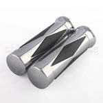 Chrome Motorcycle Handlebar Hand Grips
