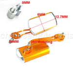 Golden Rotating Universal Motorcycle Rear View Mirrors Set For Yamaha Kawasaki Honda Suzuki