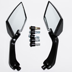 2x Carbon Custom Side Mirrors For Motorcycle Honda Yamaha Suzuki Kawasaki
