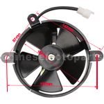 Small Fan for 200cc-250cc Water-cooled ATV, Dirt Bike & Go Kart