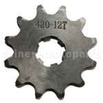 420 12-Tooth 17mm Engine Sprocket for 50cc-125cc ATV, Dirt Bike & Go Kart