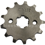 420 13-Tooth 17mm Engine Sprocket for 50cc-125cc ATV, Dirt Bike & Go Kart