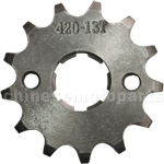 420 13-Tooth 20mm Engine Sprocket for 50cc-125cc ATV, Dirt Bike & Go Kart