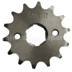 420 14-Tooth 20mm Engine Sprocket for 50cc-125cc ATV, Dirt Bike & Go Kart