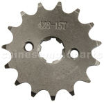 428 15-Tooth 17mm Engine Sprocket for 50cc-125cc ATV, Dirt Bike & Go Kart