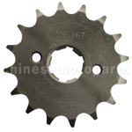 428 16-Tooth 20mm Engine Sprocket for 50cc-250cc ATV, Dirt Bike & Go Kart