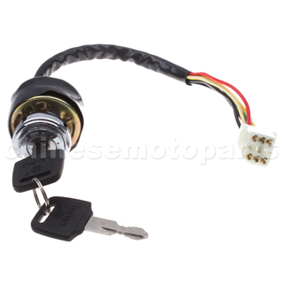 6 wire Key Switch for 2-stroke Pocket Bike