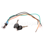 4 wire Iron Key Ignition for 2-stroke Pocket Bike