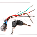 5 wire Iron Key Ignition for 2-stroke Pocket Bike