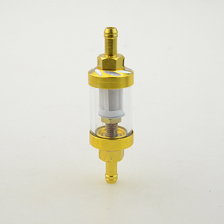 95mm*7mm Gold Motorcycle CNC Universal Transparent Gas Fuel Filters motocross ATV Quad