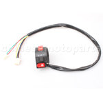 3-Function Left Switch Assembly with Choke Lever for 50cc-250cc ATV, Dirt Bike & Go Kart