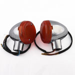 Amber Lens Chrome Rear Turning Signal Light for HONDA STEED MAGNA