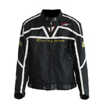 Pro-biker Motorcycle Sport Bike Racing Black Armor Jacket With Pads M L XL XXL