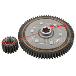 67 Teeth Primary Driven Gear With 18 Teeth Driving Gear Set for 50cc-125cc ATV,Dirt Bike & Go Kart
