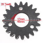 20-Teeth Driving Gear for GY6 125cc-150cc ATV, Go Kart & Scooter