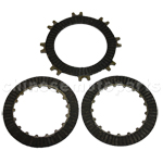 Single-Automatic Clutch Plate Set for 50cc-125cc ATV, Dirt Bike & Go Kart