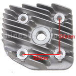Cylinder Head Cover for 2-stroke 50cc Moped & Scooter