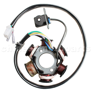 6-Coil Magneto Stator for GY6 125-150CC ATV, Go Kart, Moped & Scooter