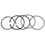 Piston Ring Set for 125cc ATV, Dirt Bike & Go Kart