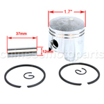 Piston Assembly for 2-stroke 49cc (44-6) Pocket Bike