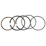 Piston Ring Set for GY6 80cc ATV, Go Kart, Moped & Scooter