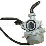 KEIHIN 19mm Carburetor of High Quality with Hand Choke for 110cc ATV, Dirt Bike & Go Kart