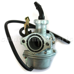 KUNFU 25mm Carburetor of High Quality with Cable Choke for 125cc ATV, Dirt Bike & Go Kart