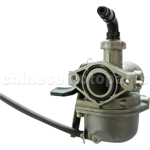 KUNFU 19mm Carburetor of High Quality with Right Hand Choke for 110cc ATV, Dirt Bike & Go Kart