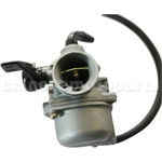 KUNFU 19mm Carburetor of High Quality with Left Hand Choke for 110cc ATV, Dirt Bike & Go Kart