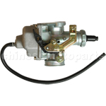 KUNFU 27mm Carburetor of High Quality with Cable Choke for CG 150cc-200cc ATV, Dirt Bike & Go Kart