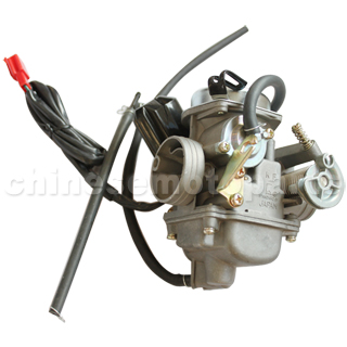 KUNFU 24mm Carburetor of High Quality for GY6 125cc-150cc ATV, Go Kart, Moped & Scooter