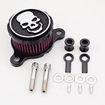 Black Chrome Skull Air Cleaner Intake Filter For Harley Sportster XL 1988-2015