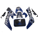 Decals for 50-125 Dirtbike-Blue